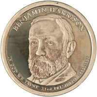 2012 S PRESIDENTIAL DOLLAR BENJAMIN HARRISON GEM DCAM PROOF TONED SEE PICS G130