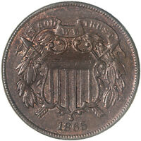 1865 TWO CENT COIN ABOUT UNCIRCULATED AU SEE PICS G161