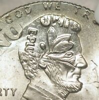1996 ERROR FLIPOVER DOUBLE DENOMINATION   CENT ON DIME TWO CLEAR DATES NGC MS65
