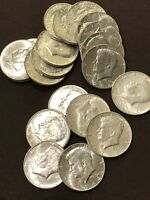 LOT OF 20 KENNEDY SILVER HALF DOLLARS 90 DATED 1964. BU SHARP ROLL OF COINS A