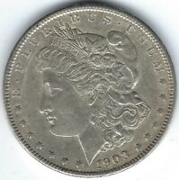 1903-P $1 MORGAN SILVER DOLLAR, AU, BETTER DATE, GREAT FOR DATE SET
