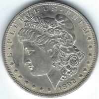 1892-O $1 MORGAN SILVER DOLLAR, BETTER DATE, EXTRA FINE /AU DETAILS BUT LIKELY CLEANED