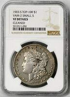1903 S VF DETAILS VAM 2 SMALL S MORGAN SILVER DOLLAR $1 COIN 90 US MINT