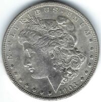 1903-P $1 MORGAN SILVER DOLLAR, BETTER DATE, GREAT FOR DATE SET