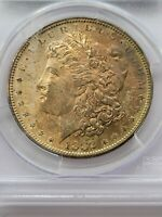 1882-S $1 MORGAN DOLLAR PCGS MINT STATE 63 90 SILVER NUMISMATIC COIN TONER JC73