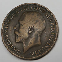 GREAT BRITAIN PENNY 1917 BRONZE KM810