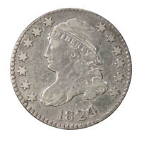 1824/2 10C SILVER CAPPED BUST DIME