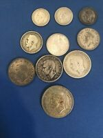 GREAT BRITAIN SILVER COIN LOT HALF CROWN SHILLINGS SIXPENCE