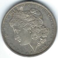 1896-P $1 MORGAN SILVER DOLLAR WITH PROOFLIKE REVERSE