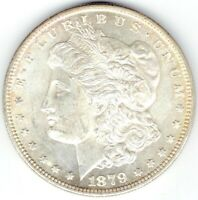 1879-S $1 MORGAN SILVER DOLLAR BU WITH GORGEOUS REVERSE GOLD TONE
