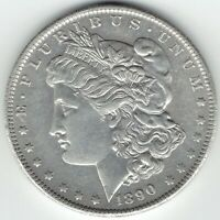 1890-O $1 MORGAN SILVER DOLLAR BETTER DATE AU DETAILS CLEANED
