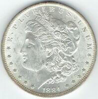 1884-O $1 BU MORGAN SILVER DOLLAR MULTI-COLORED FULLY TONED RAINBOW REVERSE