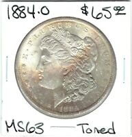 1884-O $1 MORGAN SILVER DOLLAR  TONING
