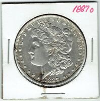 1887-O $1 MORGAN SILVER DOLLAR, EXTRA FINE  DETAIL, EVIDENCE OF CLEANING
