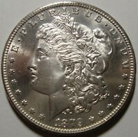 WOW 1879-S MORGAN SILVER DOLLAR - GEM BU CONDITION W/NEAR PL FIELDS