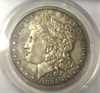 1884S MORGAN ANACS AU55 DETAILS GRADE GREAT COIN ONCE MINIMAL LIGHT CLEANING