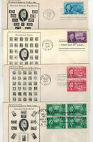 1946 FRANKLIN ROOSEVELT TRIBUTE 930 933 SET OF 4 FDCS UNKNOW