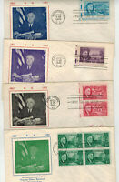 1946 FRANKLIN ROOSEVELT TRIBUTE 930 933 SET OF 4 FDCS BY GRA