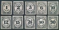 USA POST OFFICE DEPT SET OF 10 OFFICIALS : PROOFS ON CARD