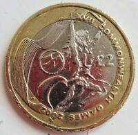 2002 COMMONWEALTH GAMES ENGLAND FLAG  2 TWO POUND COIN CIRC