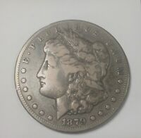 1879 CC   SILVER DOLLAR SOLID LOWER GRADE ORIGINAL GREY COLOUR CAPPED DIE