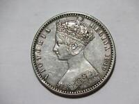 GREAT BRITAIN 1849 ONE FLORIN QUEEN VICTORIA SILVER TYPE WOR
