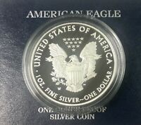 2010 W  US  SILVER PROOF EAGLE ORIGINAL GOVERNMENT  PACKAGING &  BOX  NICE COIN