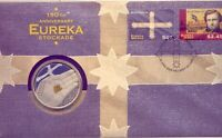 2004  THE  EUREKA STOCKADE  WITH SILVER $5 COIN     PNC    N