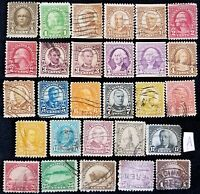 US STAMPS1922 ISSUE FOURTH BUREAU USED OFF PAPER 28 DIFFEREN