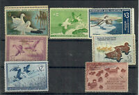 US COLLECTION OF SEVEN  7  DIFFERENT USED AND UNUSED FEDERAL