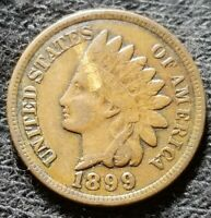 1899 INDIAN HEAD CENT PENNY OLD US COPPER COIN