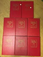 LOT OF 8 1960'S OFFICIAL RED BOOK A GUIDE OF UNITED STATES COINS BY R.S. YEOMAN