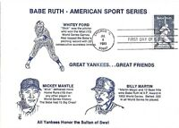 1983 FDC 2046 20C BABE RUTH COLLECTABLE CO.  D 1353