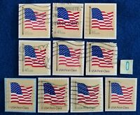 US STAMPS 2007 AMERICAN FLAG ALL DIFFERENT LOT OF 10 USED  O