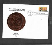 VINTAGE 1985 FIRST DAY OF ISSUE STATUE OF LIBERTY CENTENNIAL