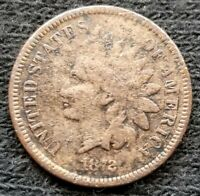 1872 INDIAN HEAD CENT PENNY OLD COPPER US COIN   KEY DATE