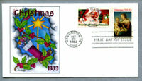 U.S. FIRST DAY COVER SCOTT 2063 2064 CHRISTMAS 1983 AFDCS 3