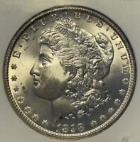1898O $1 MORGAN DOLLAR UNCIRCULATED CERTIFIED NGC GEM MINT STATE 65 WITH CAC