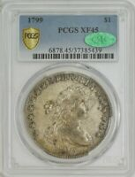 1799 DRAPED BUST DOLLAR $ B-8, BB-165, R.3 EXTRA FINE 45 PCGS SECURE, CAC 944275-8