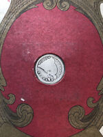 1853  SEATED LIBERTY HALF DIME/4 CENT STAMP