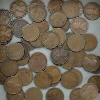 1915 D LINCOLN WHEAT CENT ROLL 50 CIRCULATED PENNIES US COINS