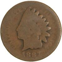 1887 INDIAN HEAD CENT ABOUT GOOD PENNY AG