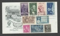 US 1960 LINCOLN FDC GREAT COMBO