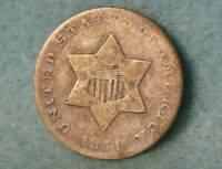 1851 THREE CENT SILVER UNITED STATES COIN