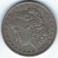 1879-O $1 2ND YEAR MORGAN SILVER DOLLAR, BETTER DATE, EXTRA FINE