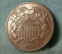 1870 TWO CENT PIECE BETTER GRADE UNITED STATES COIN