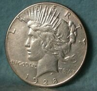 1928 PEACE $1 DOLLAR HIGH GRADE UNITED STATES SILVER COIN