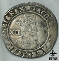 1604 1619 GREAT BRITAIN SHILLING KM26 SILVER COIN JAMES I SECOND COINAGE