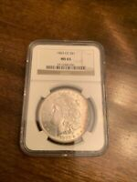 1883-CC MORGAN SILVER DOLLAR NGC MINT STATE 65 SUPERB EYE APPEAL STRONG STRIKE