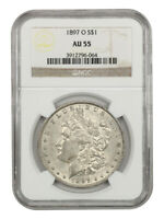 1897-O $1 NGC AU55 - BETTER DATE FROM NEW ORLEANS - MORGAN SILVER DOLLAR